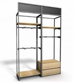 RETAIL DISPLAY FURNITURE : Modular wall cabinet with shelves and hanging space