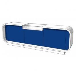 MOSTRADORES Y EXPOSITORES : Mostradores de tiendas 310cm azul