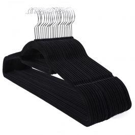 WHOLESALE HANGERS - VELVET HANGERS : Pack of 20 black velvet hangers