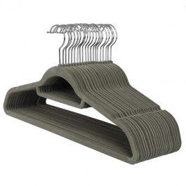 WHOLESALE HANGERS - VELVET HANGERS : Pack of 20 grey velvet hangers