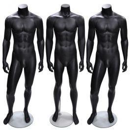 HERREN SCHAUFENSTERFIGUREN : Pack x 3 herren schaufensterfiguren schwarz ohne kopf