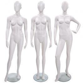MANNEQUINS VITRINE FEMME - MANNEQUINS ABSTRAITS  : Pack x3 mannequins femme abstraite de couleur blanche