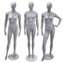 MANNEQUINS VITRINE FEMME - MANNEQUINS ABSTRAITS  : Pack x3 mannequins femme abstraite gris ciment