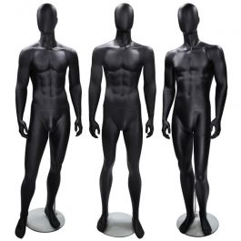 MANNEQUINS VITRINE HOMME - MANNEQUINS ABSTRAITS : Pack x3 mannequins vitrine homme abstrait noir