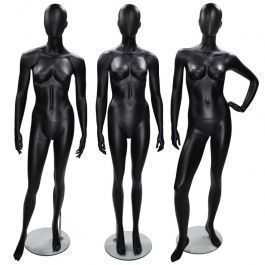 Schaufensterpuppen abstrakt Packet x 3 damen schaufensterfiguren schwarz Mannequins vitrine