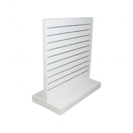 MATERIEL AGENCEMENT MAGASIN - PANNEAUX RAINURéS ET FIXATIONS : Panneau rainuré blanc 120 cm