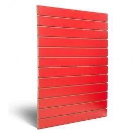 MATERIEL AGENCEMENT MAGASIN - PANNEAUX RAINURéS ET FIXATIONS : Panneau rainuré rouge 10 cm