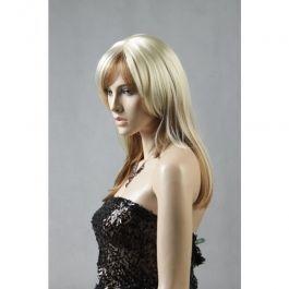 ACCESSOIRES MANNEQUIN VITRINE - PERRUQUES MANNEQUINS : Perruque mannequin femme blonde