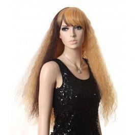 ACCESSOIRES MANNEQUIN VITRINE - PERRUQUES MANNEQUINS : Perruque mannequin femme longue bi-couleur