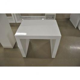 MATERIEL AGENCEMENT MAGASIN - TABLES : Petite table en bois blanc brillant