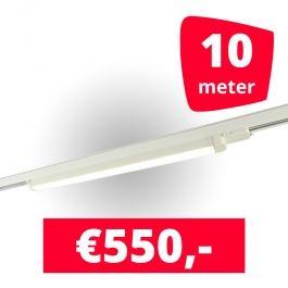SPOTS POUR MAGASIN - ECLAIRAGE SUR RAIL à LED LINéAIRE : Rails 10m + 5 led lineaire blanc 120 cm 3500k 30w