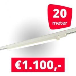 SPOTS POUR MAGASIN - ECLAIRAGE SUR RAIL à LED LINéAIRE : Rails 20m + 10 led lineaire blanc 120 cm 3500k 30w