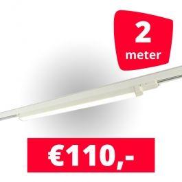 SPOTS POUR MAGASIN - ECLAIRAGE SUR RAIL à LED LINéAIRE : Rails 2m + 1 led lineaire blanc 120 cm 3500k 30w