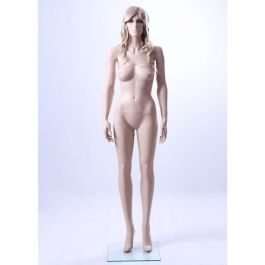 FEMALE MANNEQUINS - MANNEQUIN REALISTIC : Realistic female mannequin with square glass base