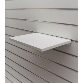 ARREDAMENTO NEGOZI - SCAFFALATURE : Ripiano bianco per pannello scanalato