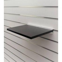 ARREDAMENTO NEGOZI - SCAFFALATURE : Ripiano nero per pannello scanalato