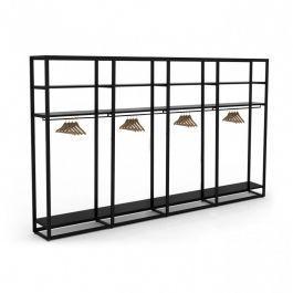 ARREDAMENTO NEGOZI - GONDOLAS ESTANTERIA GONDOLE SCAFFALATURE : Scaffale in metallo per negozi a 4 piani xl