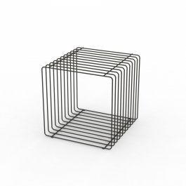 LADENAUSSTATTUNG - PODEST : Schwarz metal podium 40 cm