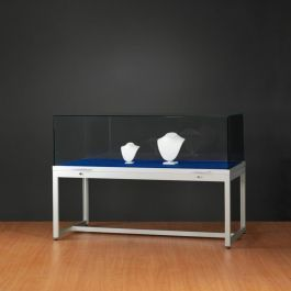 RETAIL DISPLAY CABINET - EXHIBITION DISPLAY CABINET : Silver window with glass dome in height