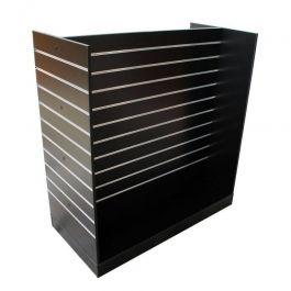 RETAIL DISPLAY FURNITURE : Slatwall black color multi side