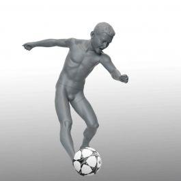CHILD MANNEQUINS - SPORT KID MANNEQUINS : Soccer kid mannequin with base