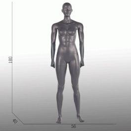 DAMEN SCHAUFENSTERFIGUREN - SCHAUFENSTERFIGUREN SPORT : Sport damen schaufensterfiguren grau aufrechte position