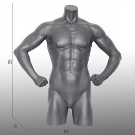 MALE MANNEQUIN BUST - SPORT TORSOS AND BUSTS : Sport male bust with sixpacks and legs