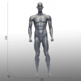 MALE MANNEQUINS - SPORT MANNEQUINS : Standing male sports mannequin with authentic muscles
