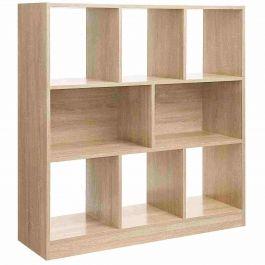RETAIL DISPLAY FURNITURE - STORAGE UNITS : Storage shelf on legs light oak color