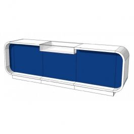 COUNTERS DISPLAY & GONDOLAS : Store counter 310cm blue