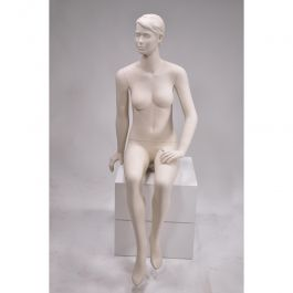 FEMALE MANNEQUINS - MANNEQUIN SEATED : Stylised seated female display mannequin