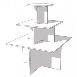 MATERIEL AGENCEMENT MAGASIN - PODIUM : Table pyramide 3 niveaux