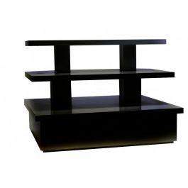 MATERIEL AGENCEMENT MAGASIN - PODIUM : Table pyramide de couleur noire