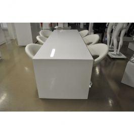 MATERIEL AGENCEMENT MAGASIN - TABLES : Tables de bureau blanche brillante