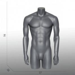 BUSTE MANNEQUIN HOMME - BUSTES TORSOS SPORT : Torso mannequin homme gris