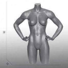 BUSTE MANNEQUIN FEMME - BUSTES TORSOS SPORT : Torso mannequin sport femme bras sur les hanches