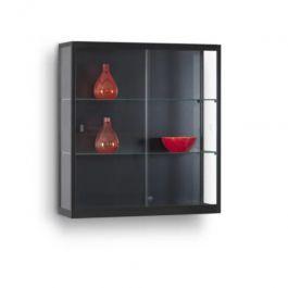 VETRINE E VETRINETTE PER NEGOZIO - VETRINE DA PARETE : Vetrina a parete nera da 100 cm