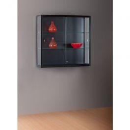 VETRINE E VETRINETTE PER NEGOZIO - VETRINE DA PARETE : Vetrina da muro nera 100 x 30 x 88 cm