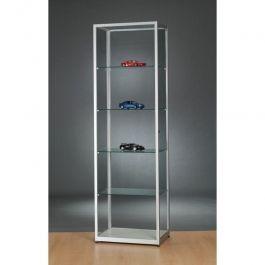 VETRINE E VETRINETTE PER NEGOZIO - VETRINE A COLONNA : Colonna di alluminio e finestra in vetro temperato