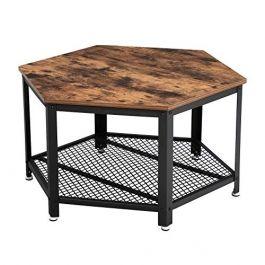 RETAIL DISPLAY FURNITURE - TABLES : Vintage hexagonal table in wood and metal