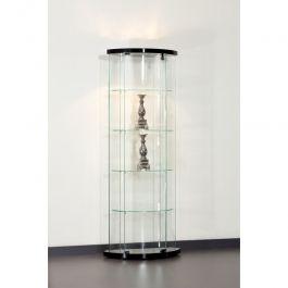 VITRINES D'EXPOSITION - VITRINES AVEC éCLAIRAGE : Vitrine d'angle 64 cm pour magasin