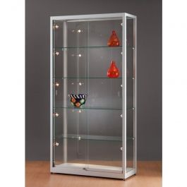 Vitrines colonnes Vitrine colonne luxe profil aluminium Mobilier shopping