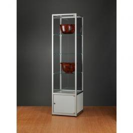 VITRINES D'EXPOSITION - VITRINES COLONNES : Vitrine luxe aluminium 50cm 91001212
