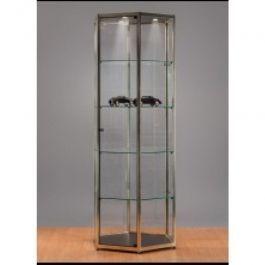 Vitrines colonnes Vitrine metal et verre Mobilier shopping