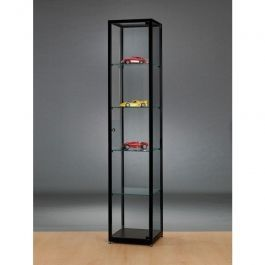 VITRINES D'EXPOSITION - VITRINES COLONNES : Vitrine pour magasin noire 40cm 91001208