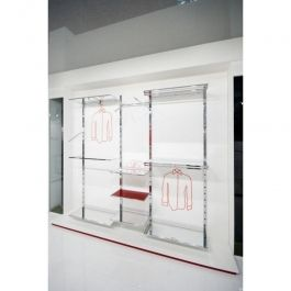RETAIL DISPLAY FURNITURE - WALL GONDOLAS : Wall gondolas complete set