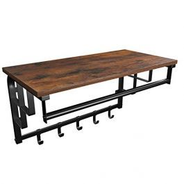 RETAIL DISPLAY FURNITURE - INDUSTRIAL FURNITURES : Wall-mounted coat rack with shelf