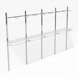 RETAIL DISPLAY FURNITURE - WALL GONDOLAS : Wall shelves 4 meters