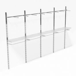 LADENAUSSTATTUNG - WANDGONDELN : Wandgondeln metal 4 m
