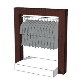 CLOTHES RAILS - CLOTHING RAIL WARDROBE : Wardrobe clothing rail bi tone